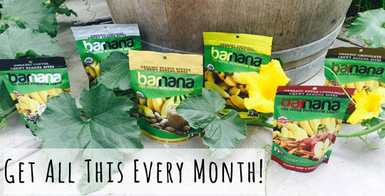 Win Every Flavor Of Large Barnana Snacks Every Month