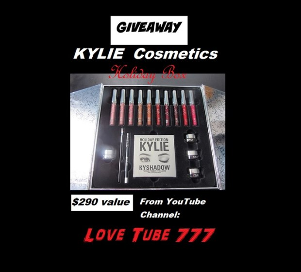 Kylie Cosmetics Limited Edition Collectors Box filled with makeup! $290 Value