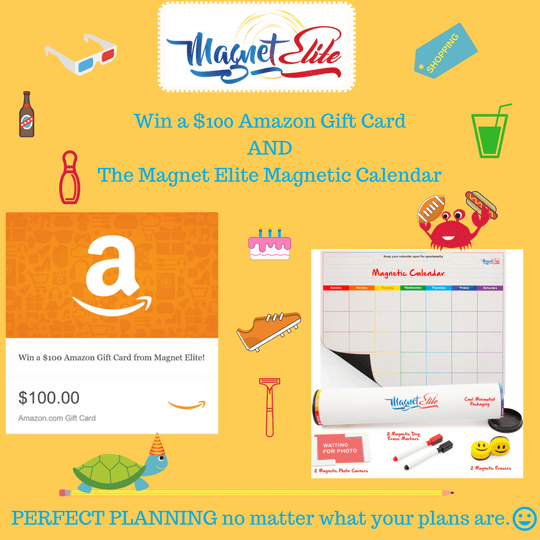 Win $100 Amazon Gift Card while Organizing your Time for you and your Family!