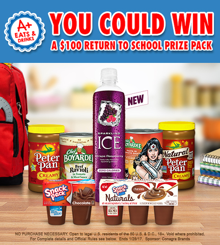 The A+ Eats, Return to School Sweepstakes