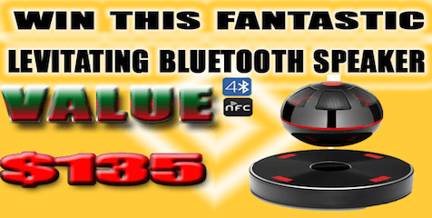 Win a Levitating Bluetooth Speaker