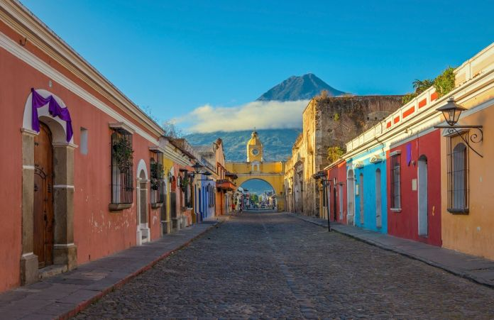 The main street of Antigua, Guatemala
