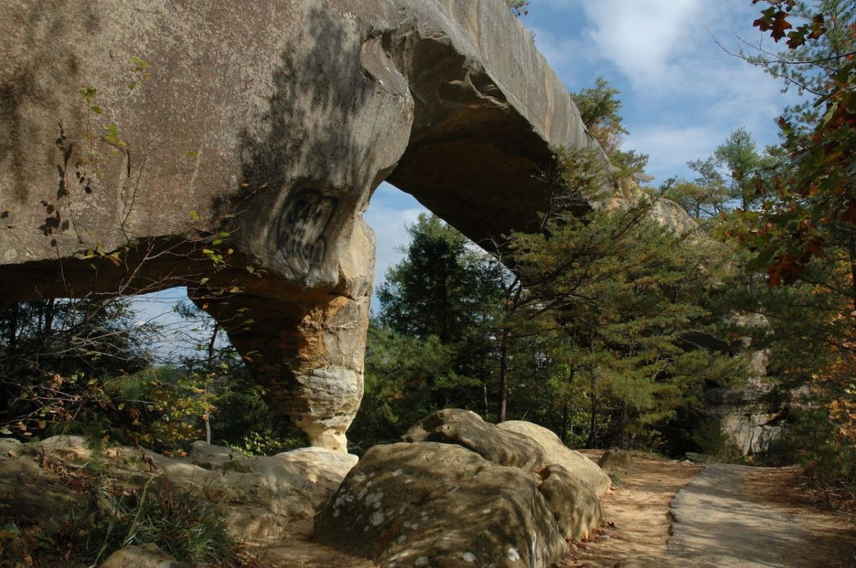 natural stone arch at Red River Gorge