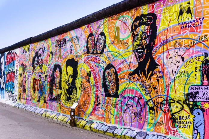 Graffiti at the East Side Gallery in Berlin