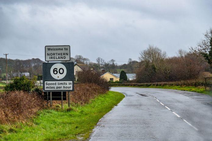 Irish border sign