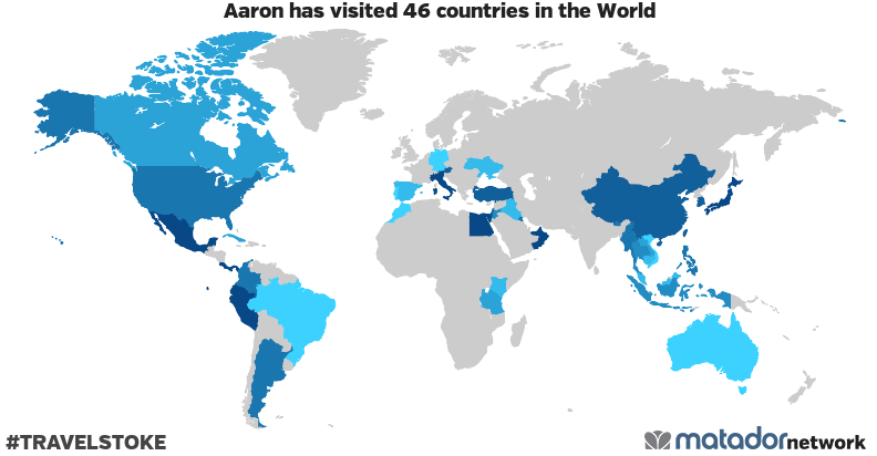 Aaron's Travel Map