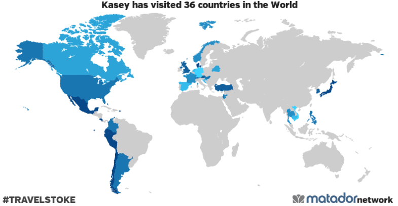 Kasey's Travel Map