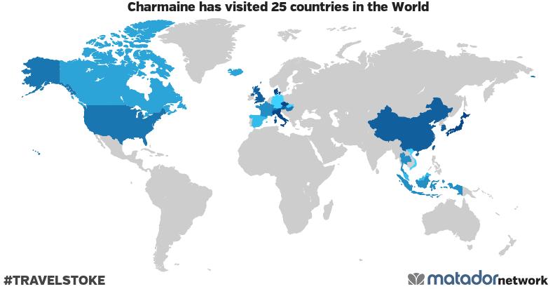 Charmaine's Travel Map