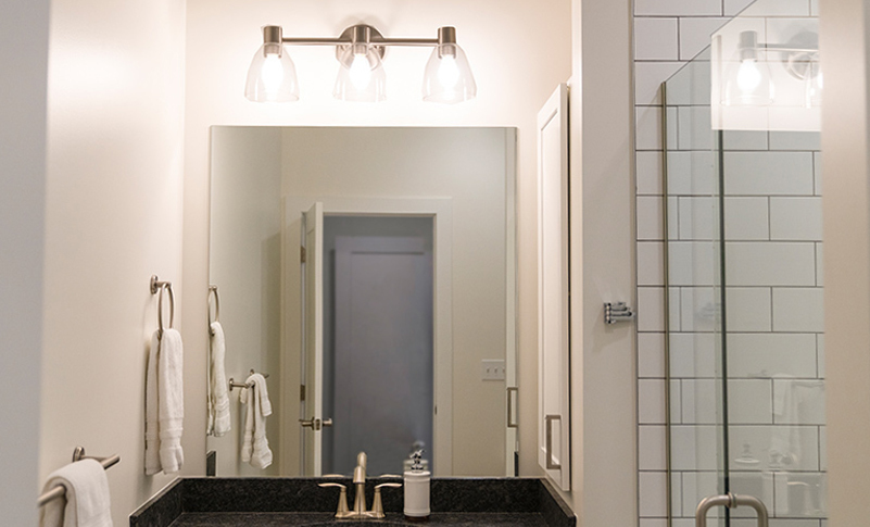 the best lighting for bathrooms with no