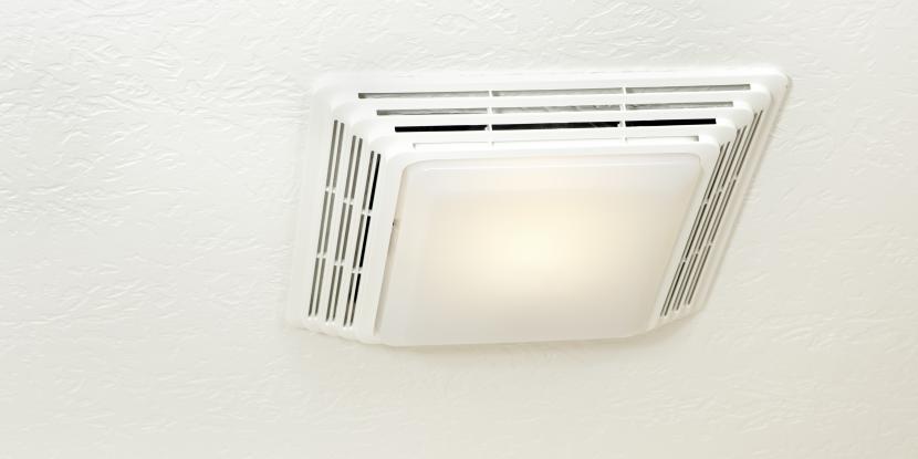 an exhaust fan in your bathroom