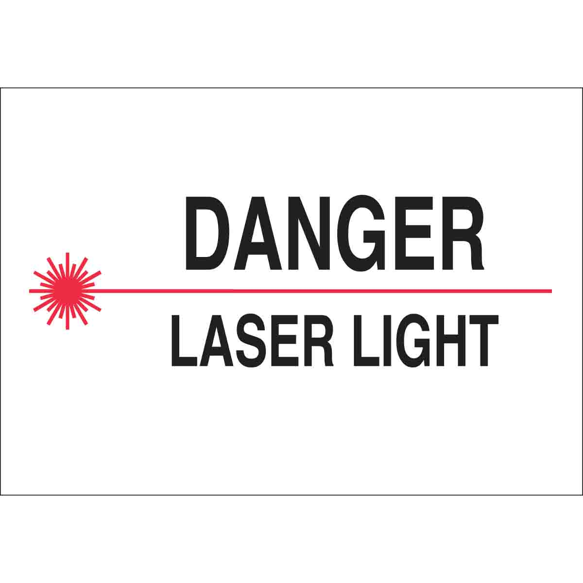 Brady Radiation Amp Laser Sign