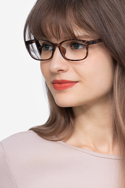 Sutherlin Tortoise Women Plastic Eyeglasses EyeBuyDirect