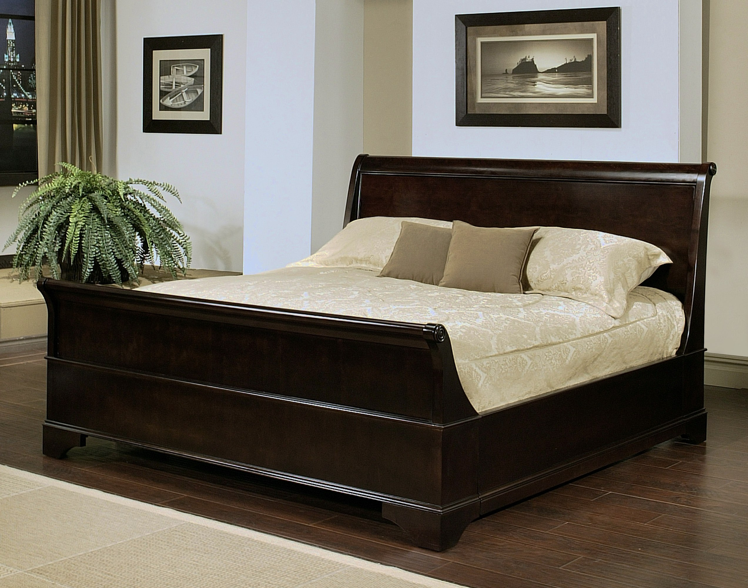 Kingston Sleigh Bed By Abbyson Living HM 5050 0020