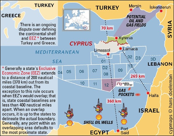 Eastern Mediterranean gas fields