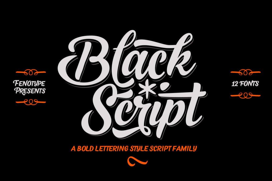 Download Black Script - Desktop Font & WebFont - YouWorkForThem