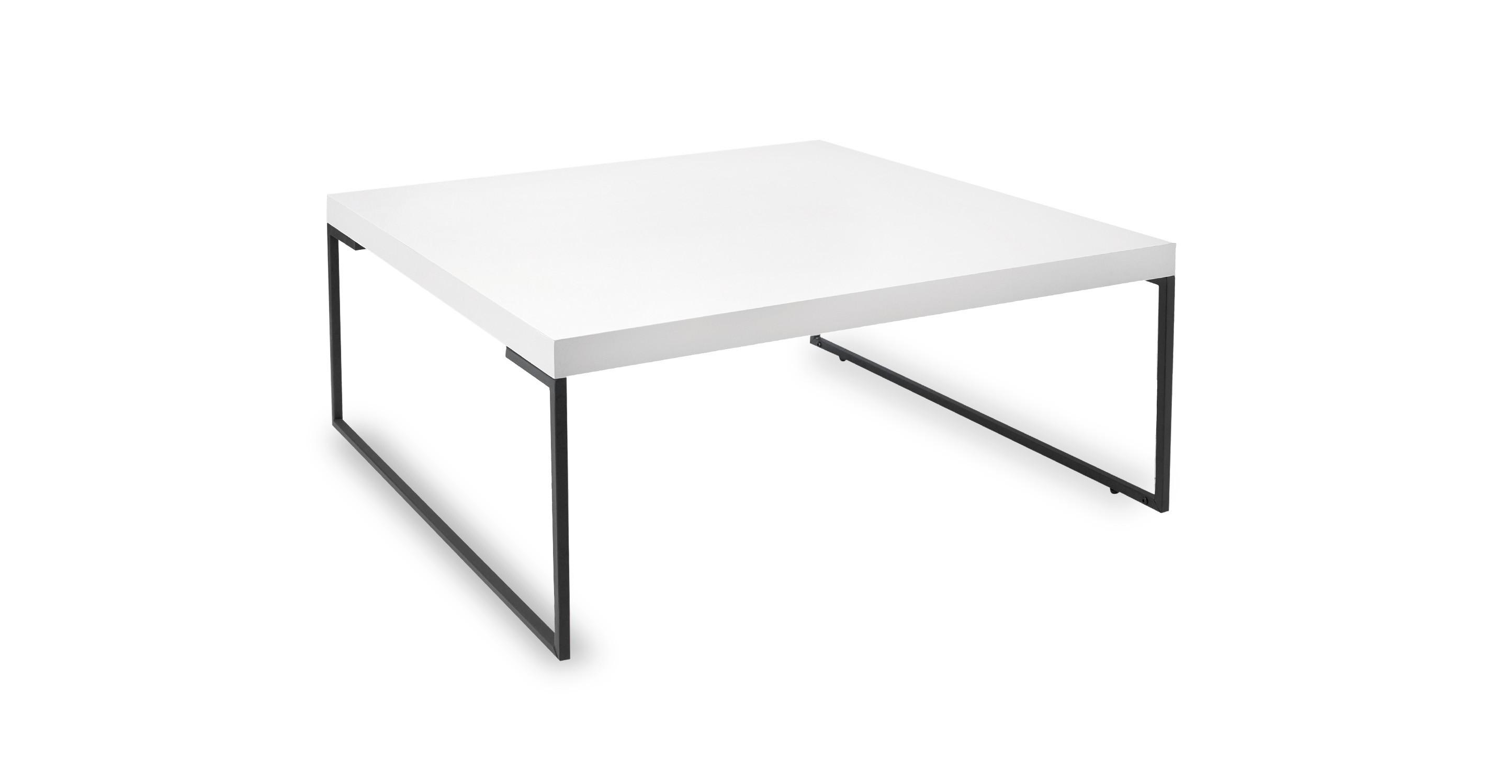 Myron White Square Coffee Table