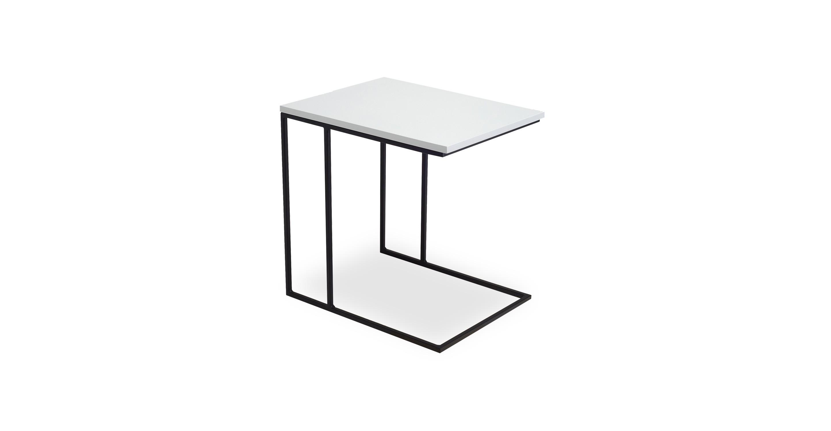 Myron White End Table