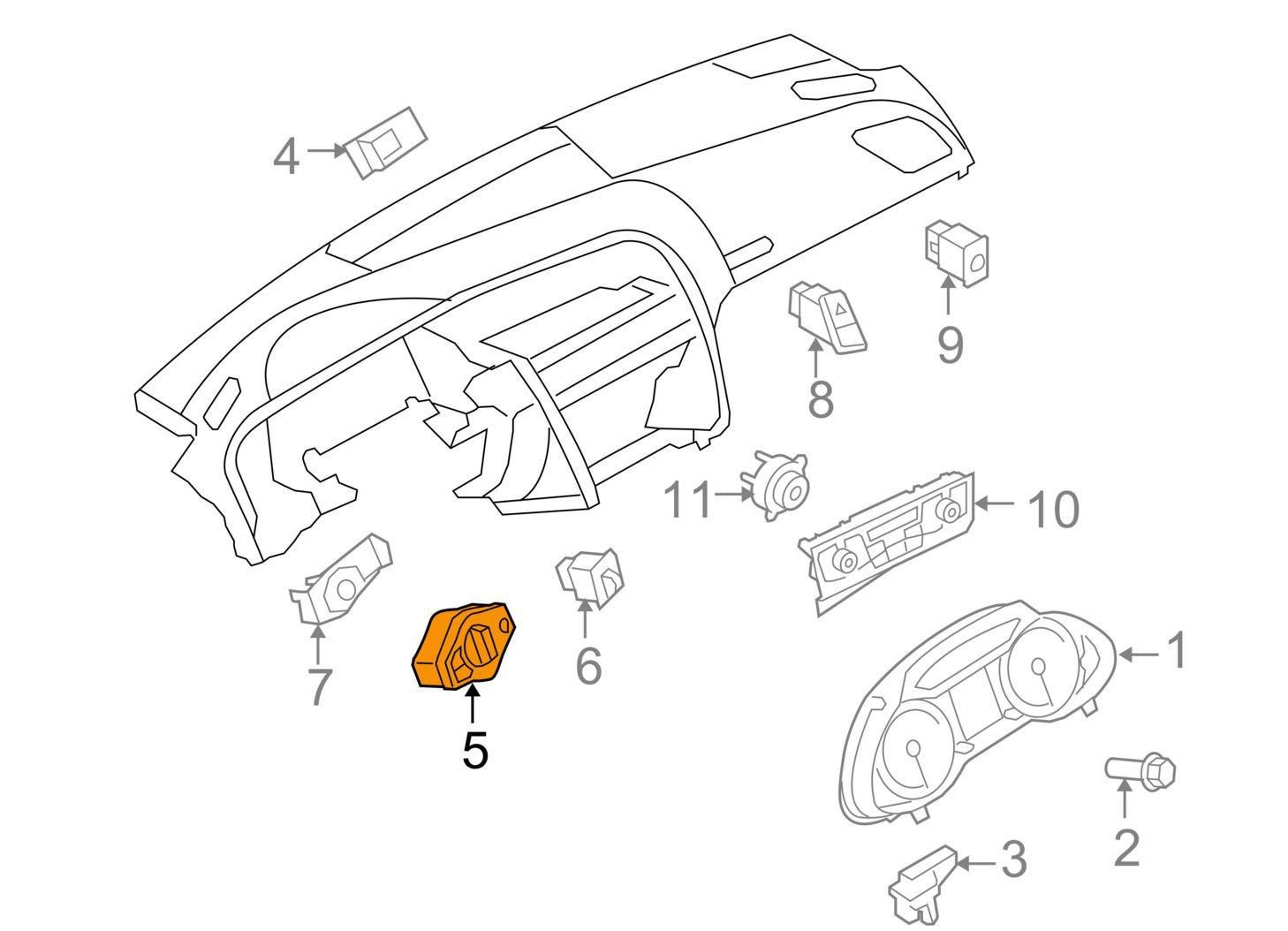 Audi A4 B8 Headlights Control Switch Unit 8k As Wep