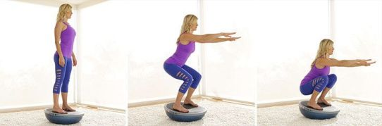 Image result for Upside-Down Bosu Ball Squat