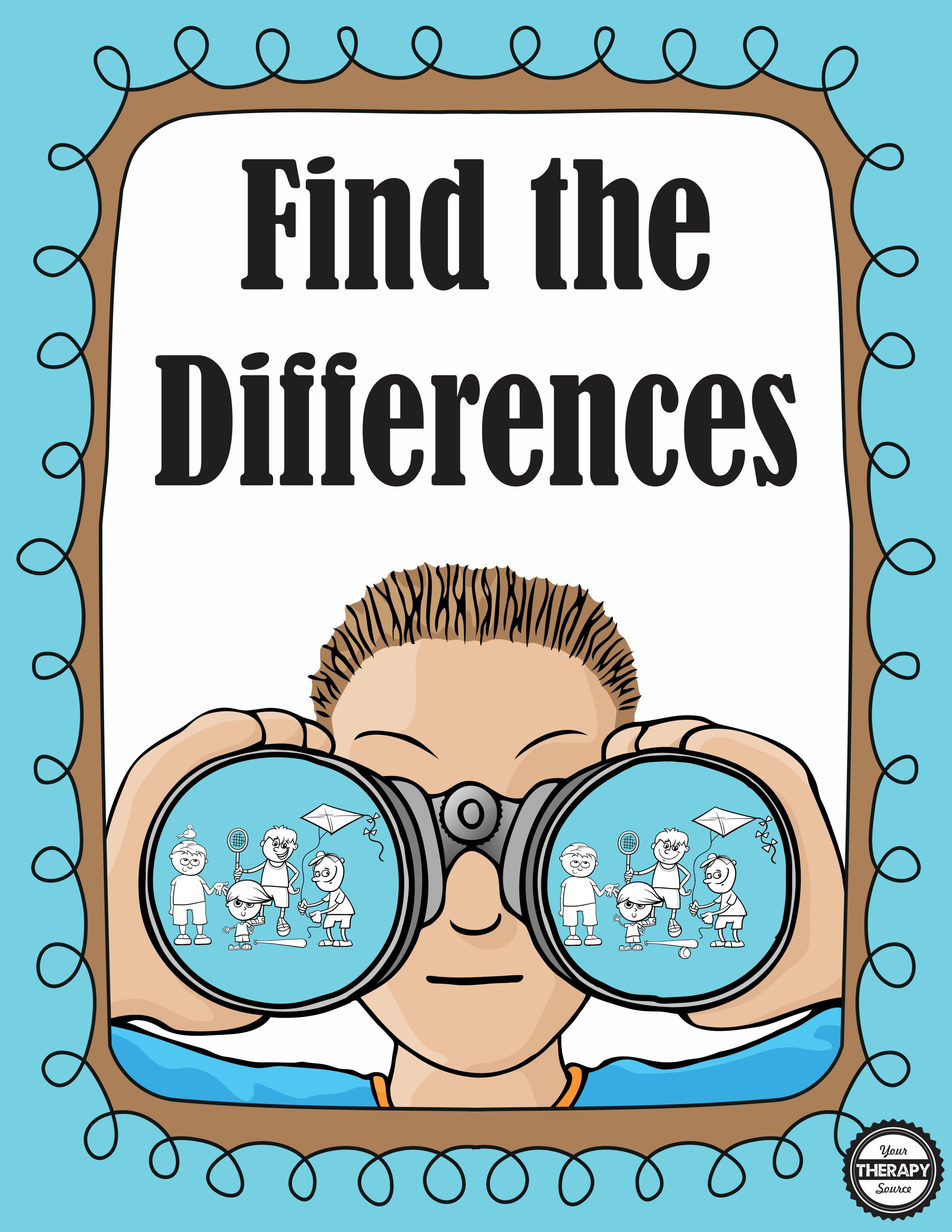 Find The Differences Visual Perceptual Puzzles