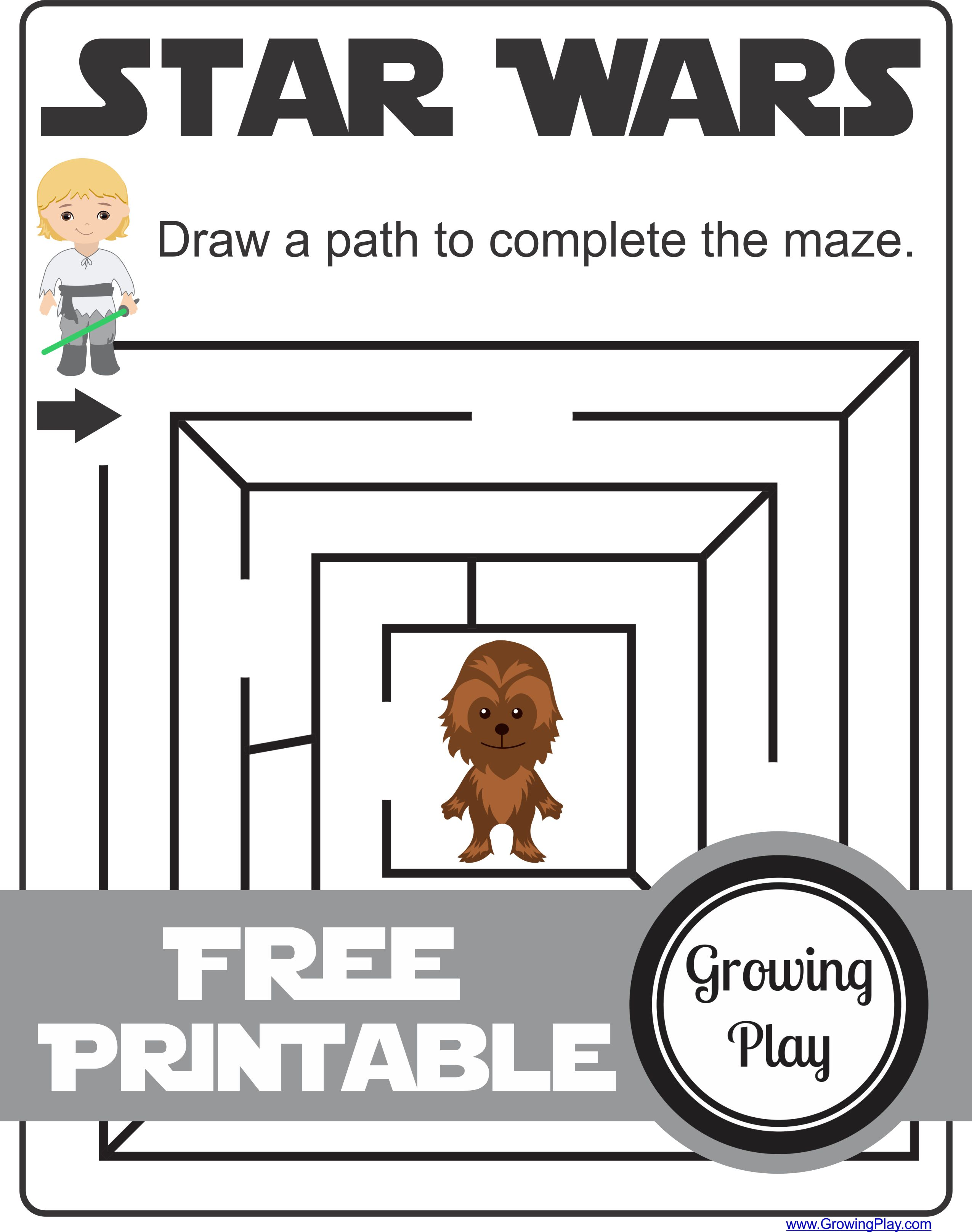 Star Wars Mazes Games And Activities