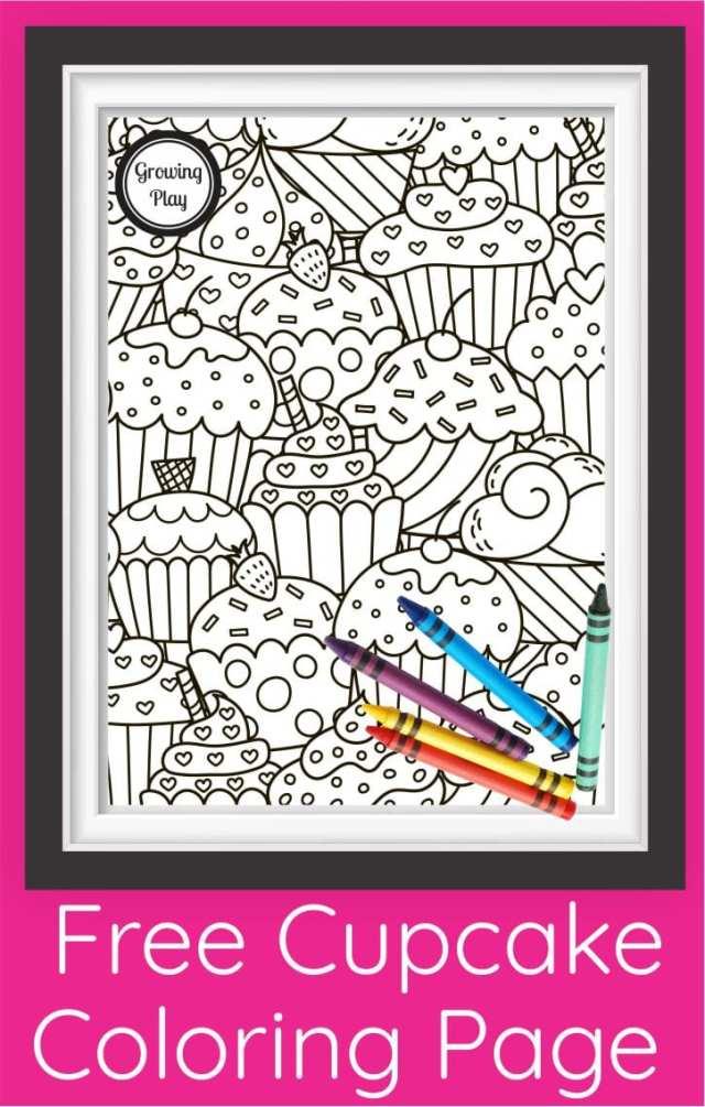 Cute Cupcake Coloring Page PDF - Free Printable! - Growing Play