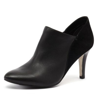 Diana Ferrari Junia Black Leather/Black Suede (Black)