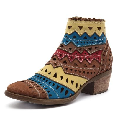Django & Juliette Sugarm Tan/Bright Multi (Tan)