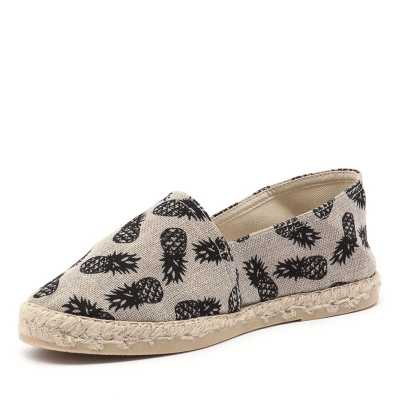 La Maison de L'Espadrille 324 Black Pineapple (Black, Neutrals)