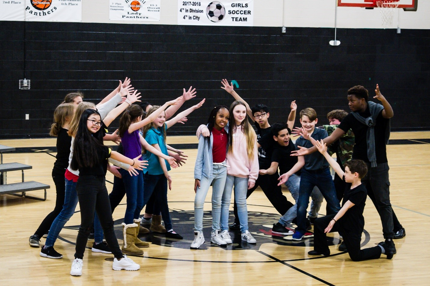 Students rehearse for a production of Mulan, Jr. through TPAC's Disney Musicals in Schools program. Photo by Mimosa Arts