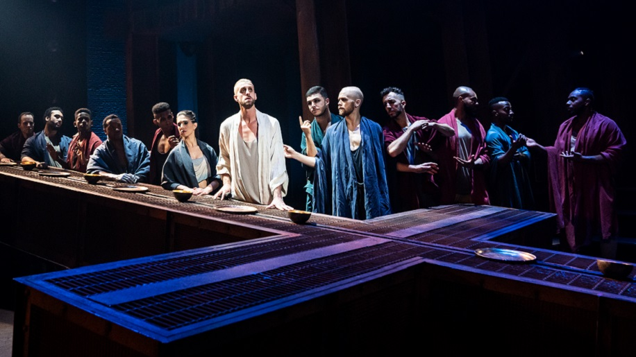 The 50th Anniversary tour of 'Jesus Christ Superstar' depicting the Last Supper. (Photo by Matthew Murphy) 916