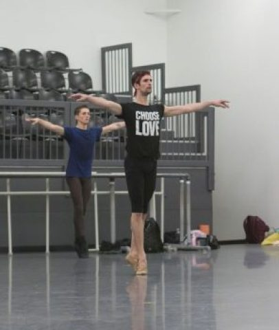 Nashville Ballet dancers Owen Thorne and Nicolas Scheuer (Courtesy Nashville Ballet).
