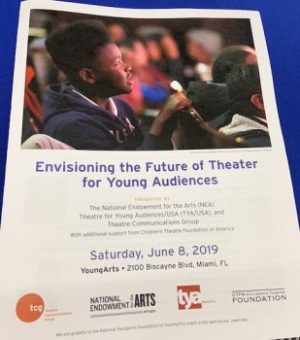 """Envisioning the Future of Theater for Young Audiences"" flyer"
