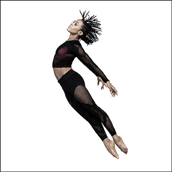 Alvin Ailey American Dance Theater's Jacquelin Harris leaping