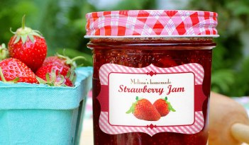 Strawberry Jam Jar Labels