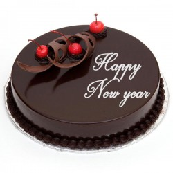 New Year Cakes Online   Best Cakes For New Year 2018   MyFlowerTree Frosted Truffle Cake