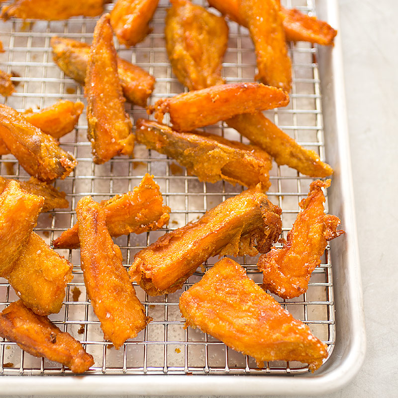 Thick Cut Sweet Potato Fries Cooks Illustrated