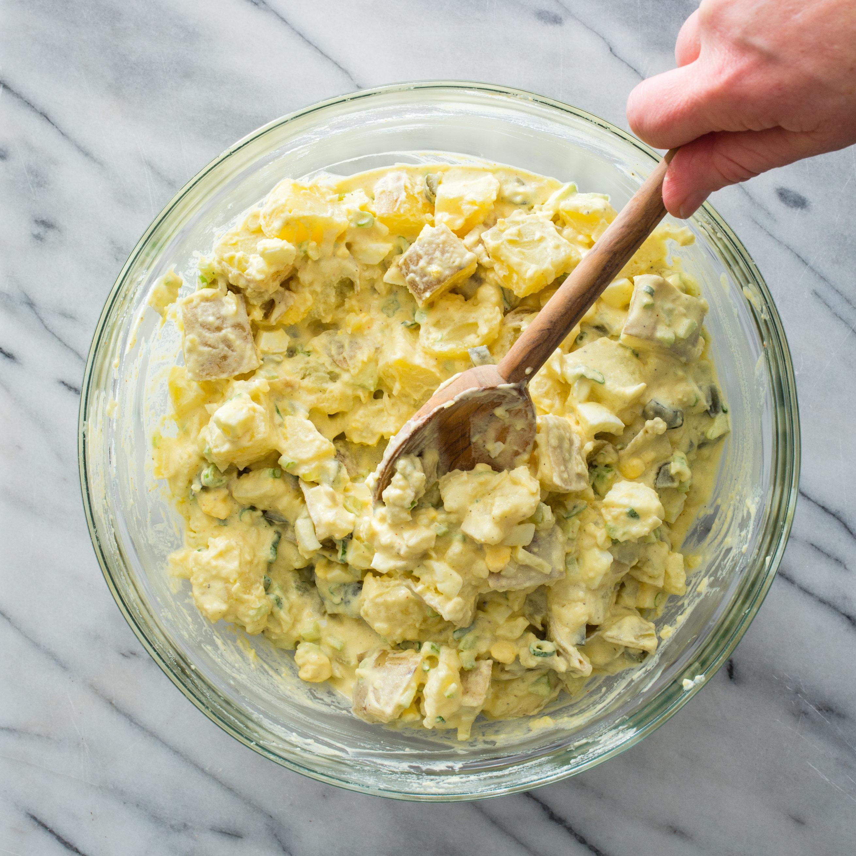 Smashed Potato Salad Cooks Country