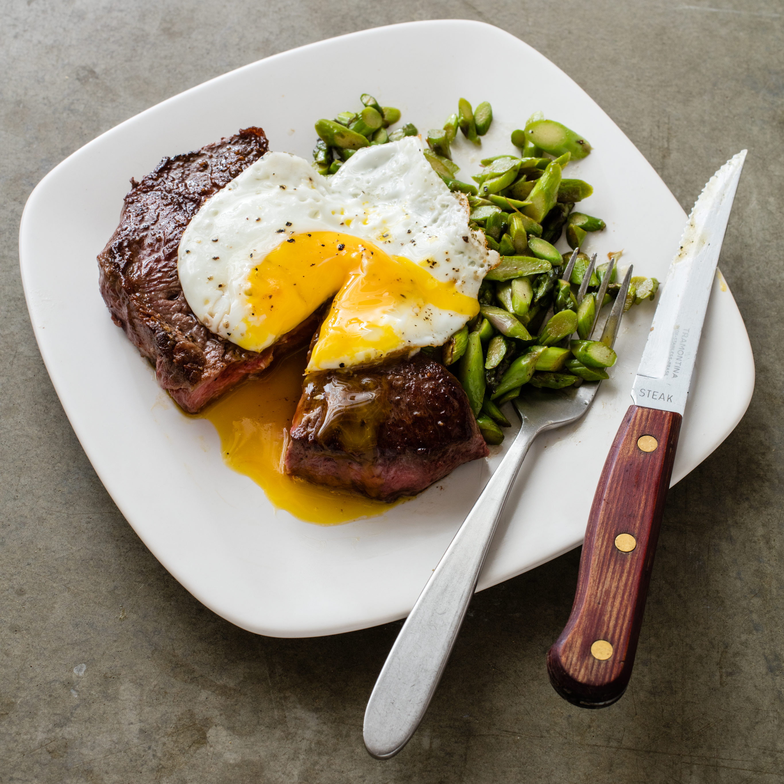 Steak And Eggs With Asparagus Cooks Country