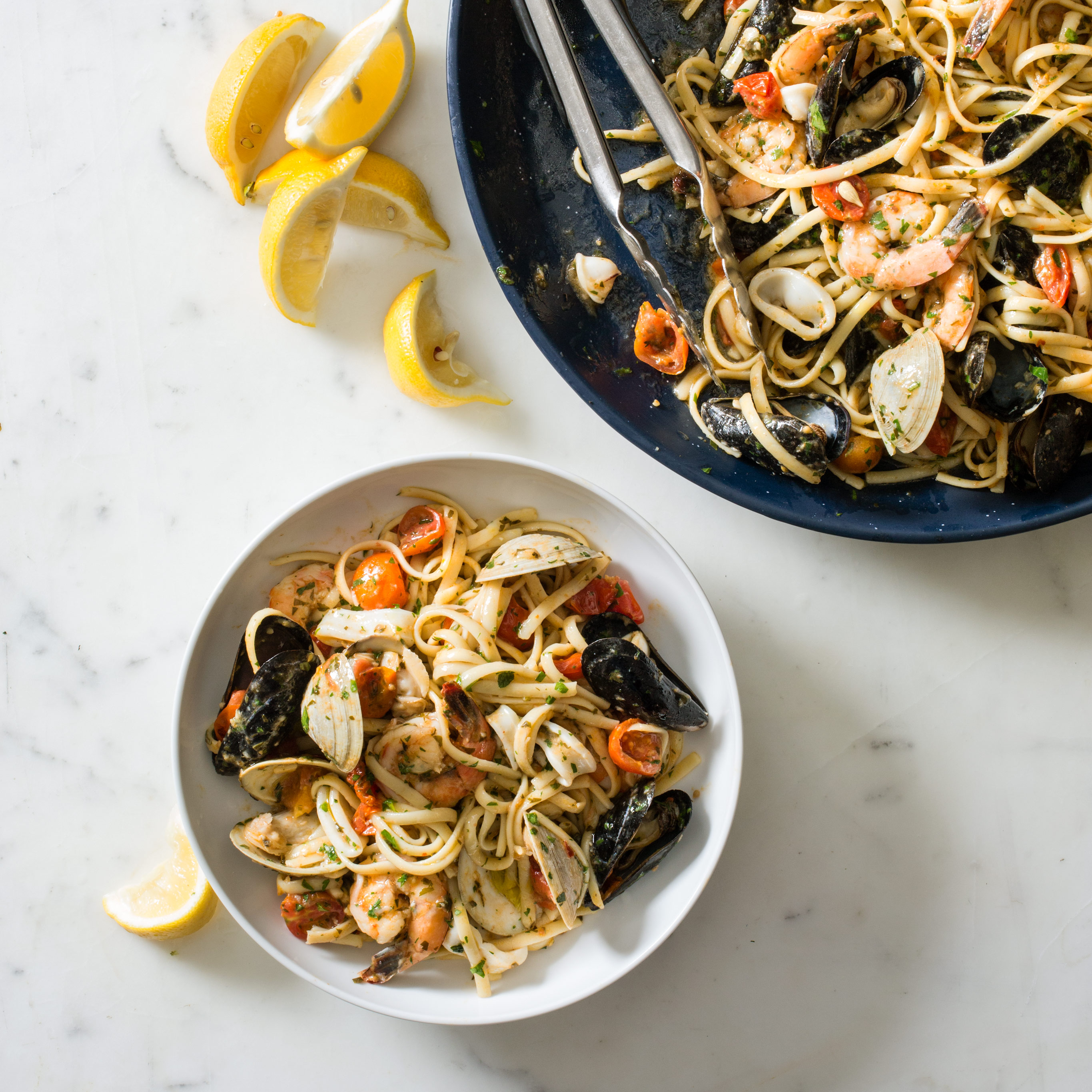 Linguine With Seafood Linguine Allo Scoglio Cooks