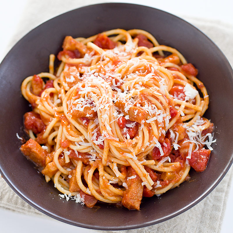 Pasta AllAmatriciana Cooks Illustrated
