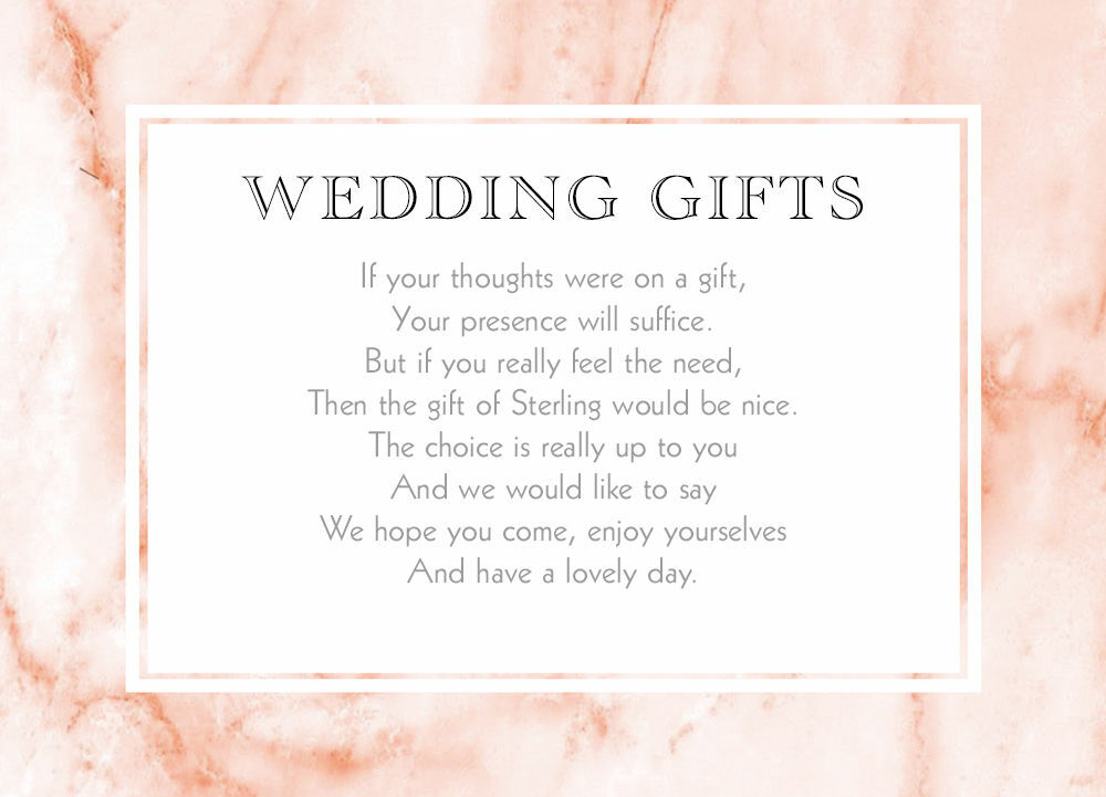 Blush Marble Gift Wish Card From £0.40 Each