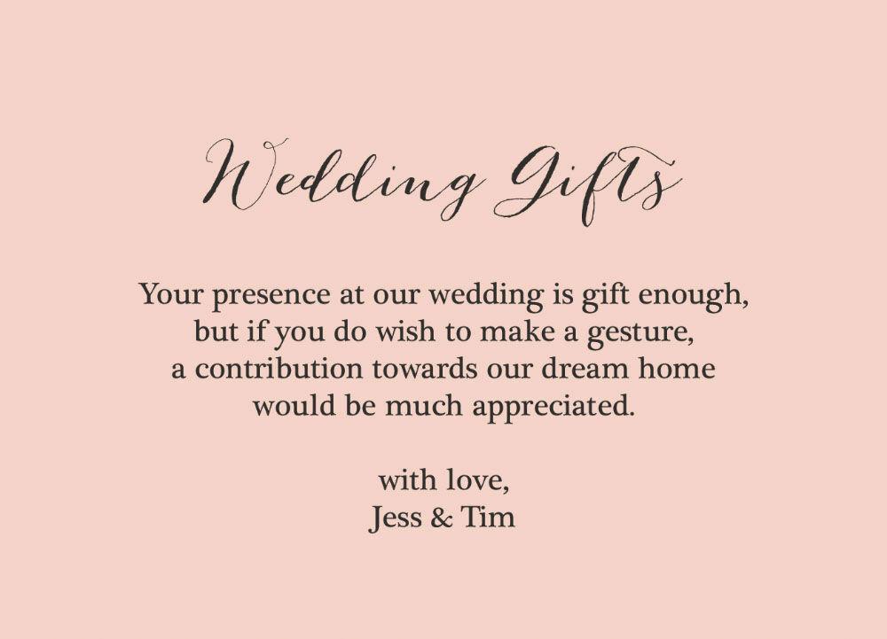 Charmant Monetary Wedding Gift Wording Bilder - Brautkleider Ideen ...