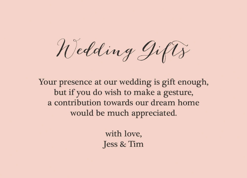 Rustic Wedding Gift Wish Card From £0.40 Each