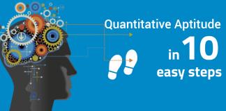 Quantitative aptitude in 10 easy steps