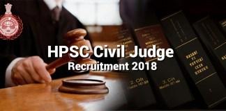 hpsc-civil-judge-recruitment 2018