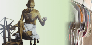 Khadi in India, Ghandi's contribution