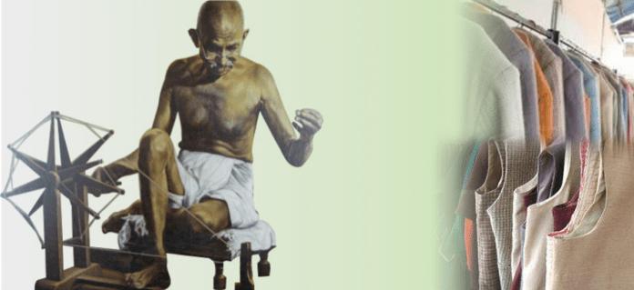 Khadi in India, Ghandi's contribution
