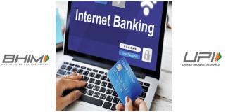 BHIM,UPI, Net banking