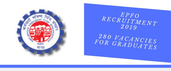 EPFO Recruitment 2019